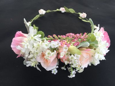 GENA - Pink and Peach and white Flower Crown