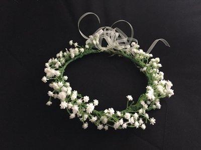 BABETTE - White Babies Breathe Flower Crown