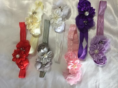 ARIEL -  Baby Toddler Wedding Bridal Headband