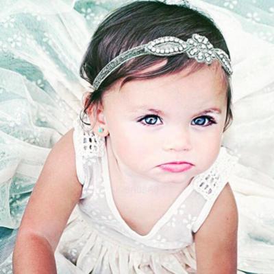 GINA -  Baby Toddler Wedding Bridal Headband