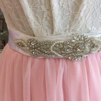 JACINTA - White Wedding Bridal Sash White