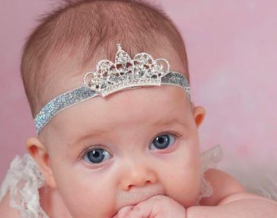 PRINCESS - Sparkling Baby Toddler Wedding Bridal Headband