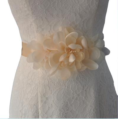 CORDELIA - Flower Spread Bridal Sash Belt