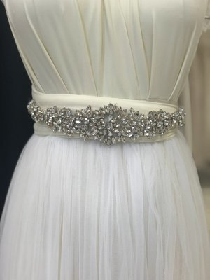 EMMA - Crystal & Rhinestone Wedding Bridal Sash Belt