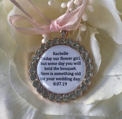 OLIVIA ROSE - Rose Gold Bling Flower Girl Charm