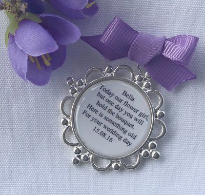 LILY -  Silver Flower Girl Charm