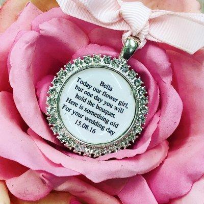 SPARKLE - Silver Flower Girl Charm