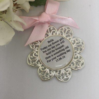 PETAL - Silver Flower Girl Charm