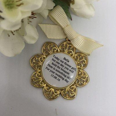 PETAL - Gold Flower Girl Charm