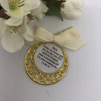 STAR - Gold Flower Girl Charm