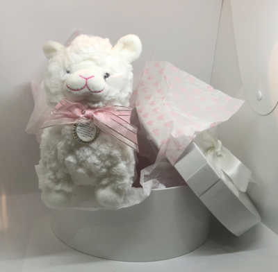 Plush Toy with Flower Girl Charm