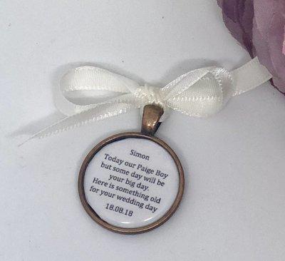 SIMON - Copper Page Boy Wedding Charm