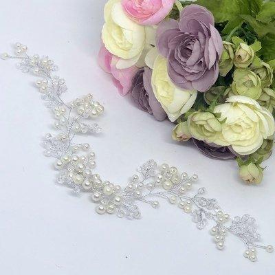 BAILEY - Crystal & Pearl Wedding Bridal Head Piece