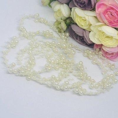 PEGGY - Pearl Wedding Bridal Hair Vine