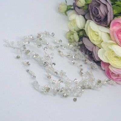 SABRINA - 1 mtr Silver Wedding Bridal Hair Vine