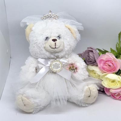 WENDY - Bride Teddy with optional Flower Girl Charm