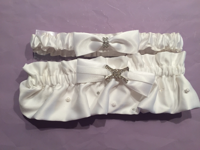 Halle - Satin Bridal Wedding Garter Set