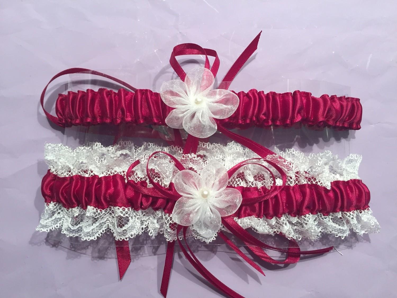 Kimberley - Satin Bridal Garter set