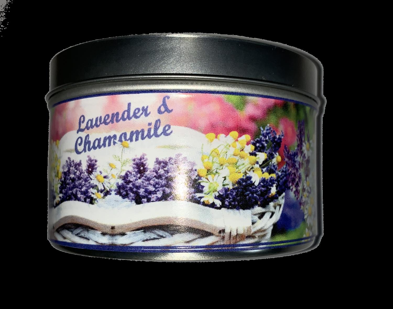 "Lavender Chamomile Mini Tin ""Can""dle"