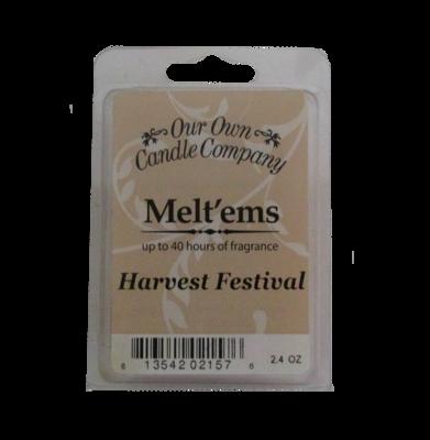 Harvest Festival Melt'em - 6 Cube 2.4 ounce
