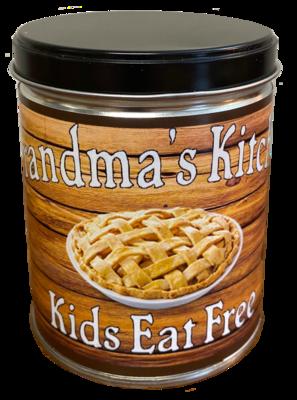 GRANDMA'S KITCHEN IN CRACK O DAWN COFFEE TIN