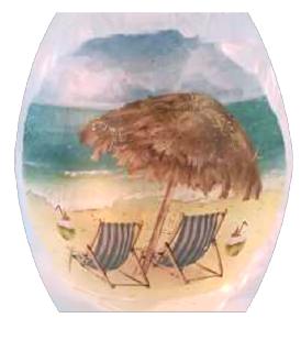 Beach Scene Lamp