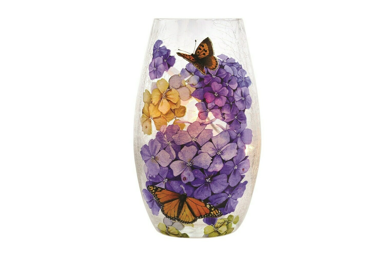 Floral Vase with Butterflies Lamp