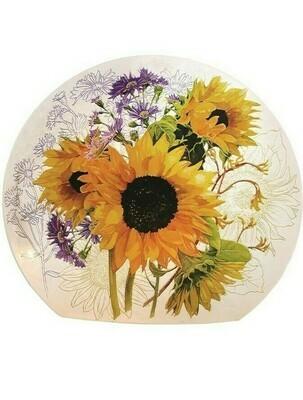 Garden Flower Orb Lamp W/ Sunflowers