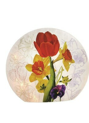 Garden Flower Orb Lamp W/Tulip