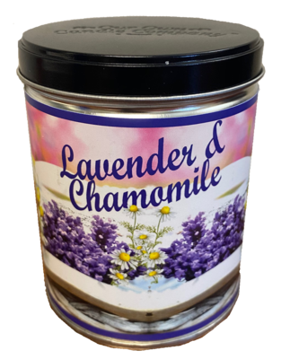 LAVENDER CHAMOMILE TIN WITH LAVENDER SEED LABEL