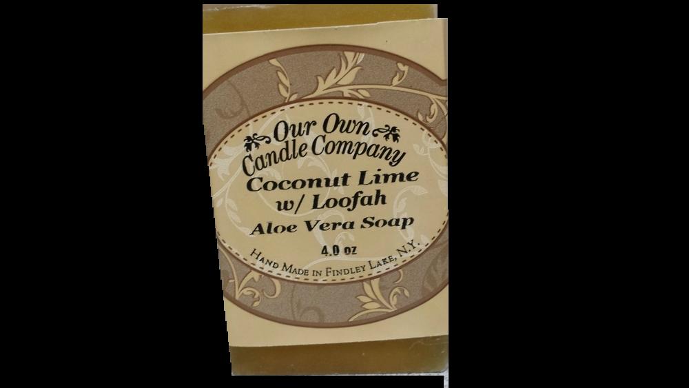 Coconut Lime W/Loofah (Pure Glycerin Soap)