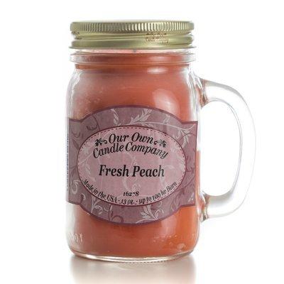 Fresh Peach Mason Jar