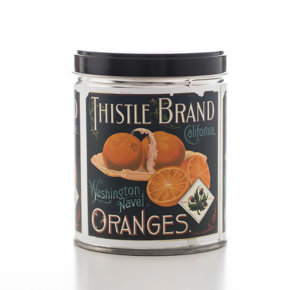 Orange Creamsicle in Thistle Brand Tin