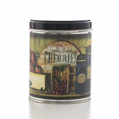 BLUEBERRY PIE IN TIN WITH CANS OF FRUIT