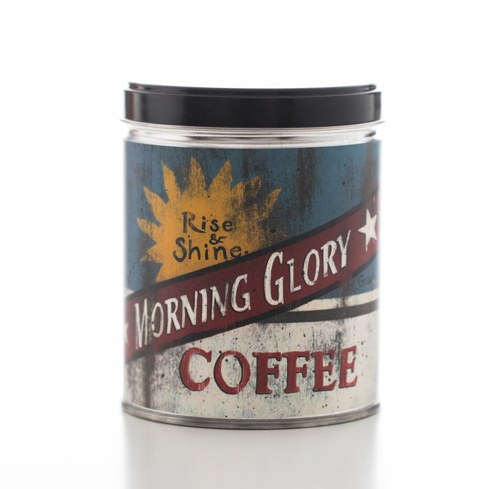 HAZELNUT IN MORNING GLORY COFFEE TIN