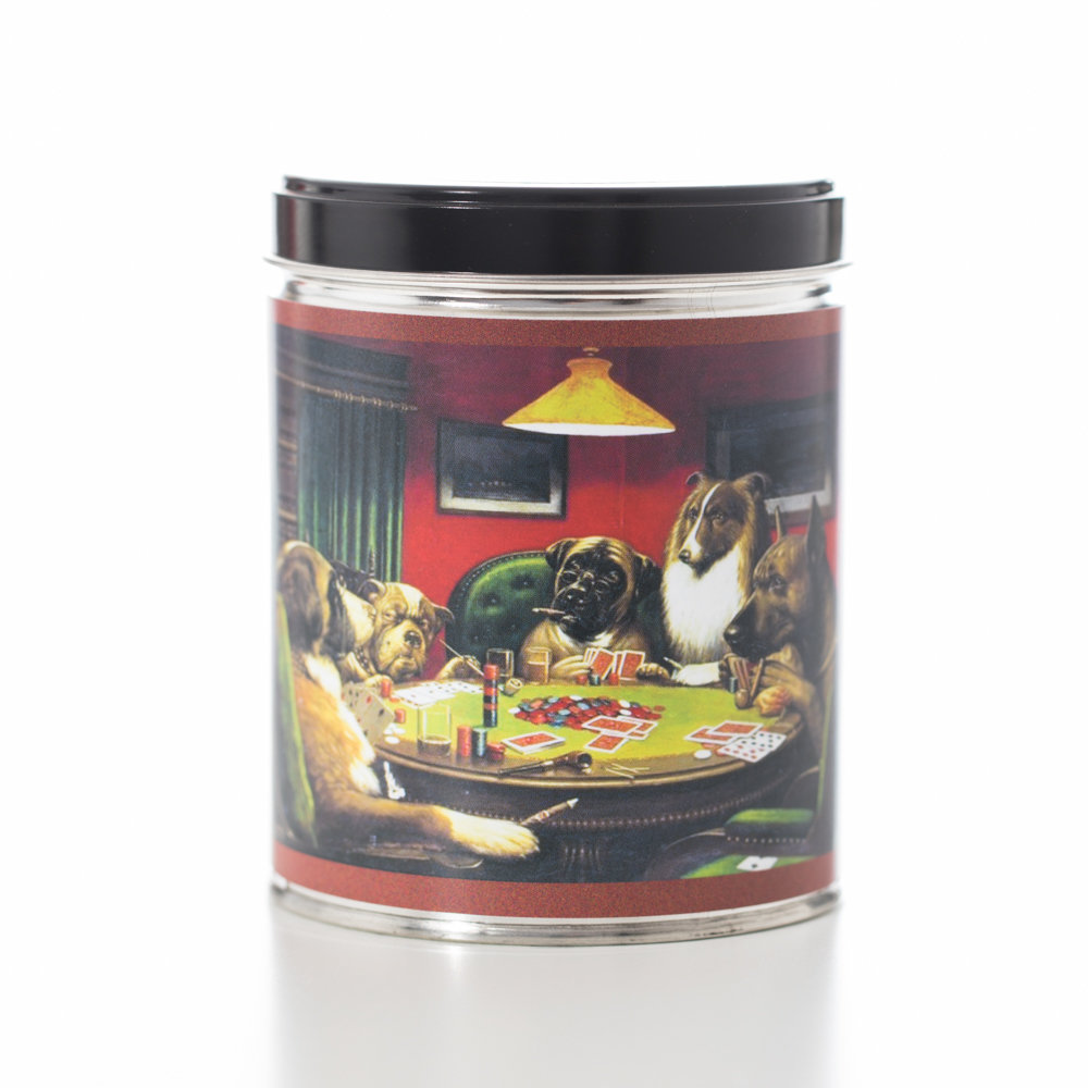 SMOKE ELIMINATOR IN DOGS PLAYING POKER TIN