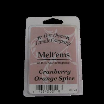 Cranberry Orange Spice Melt'em - 6 Cube 2.4 ounce