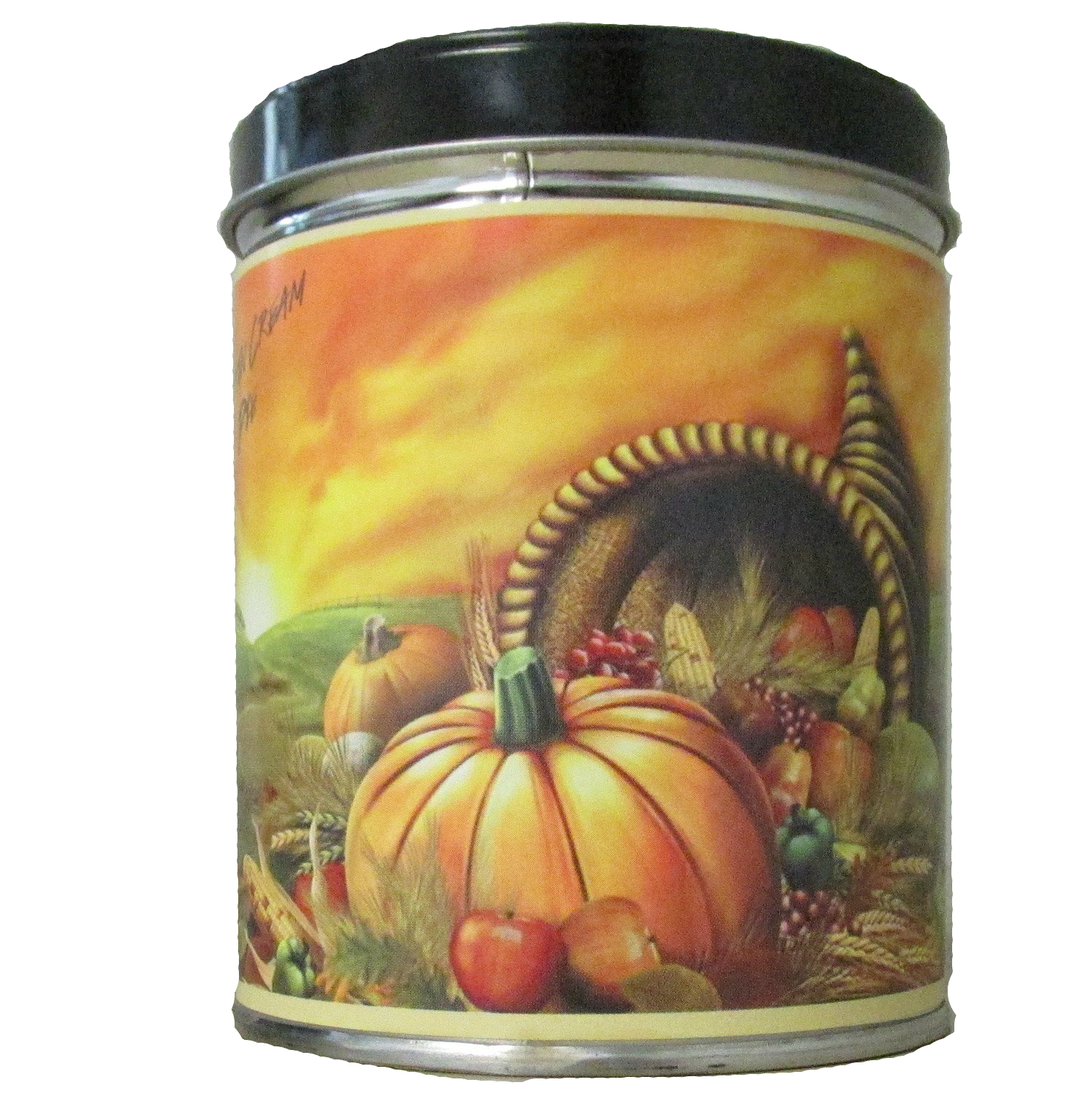 Pumpkin Cream Pie in Cornucopia Tin