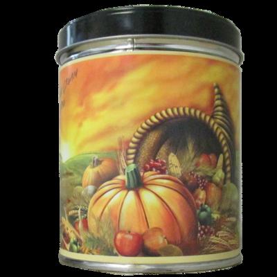 Pumpkin Cream Pie in Cornucopia Tin