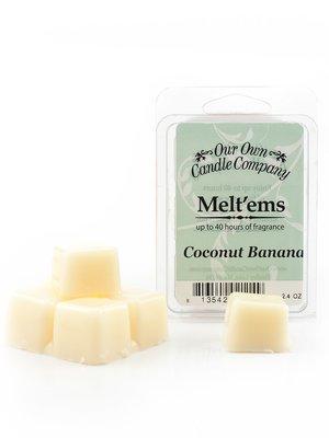 Coconut Banana Melt'em - 6 Cube 2.4 ounce