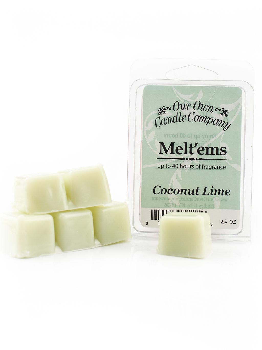 Coconut Lime Melt'em - 6 Cube 2.4 ounce