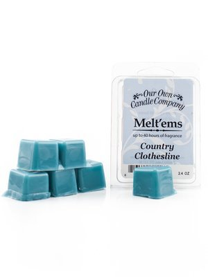 Country Clothesline Melt'em - 6 Cube 2. 4 ounce