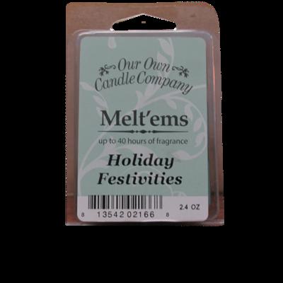 Holiday festivities Melt'em - 6 Cube 2.4 ounce