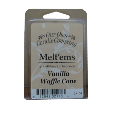 Vanilla Waffle Cone Melt'em - 6 Cube 2.4 ounce