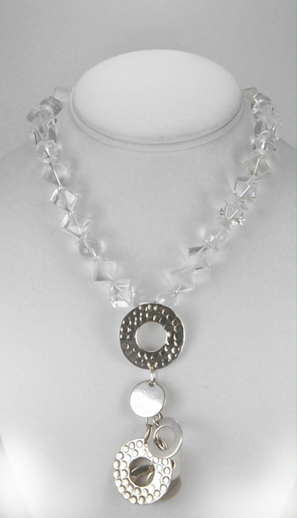 Rock Crystal  necklace with Pendant