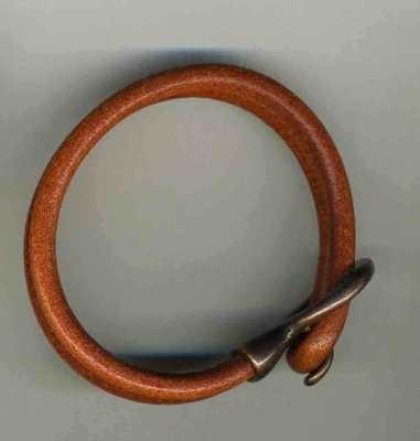 Orange cord bracelet