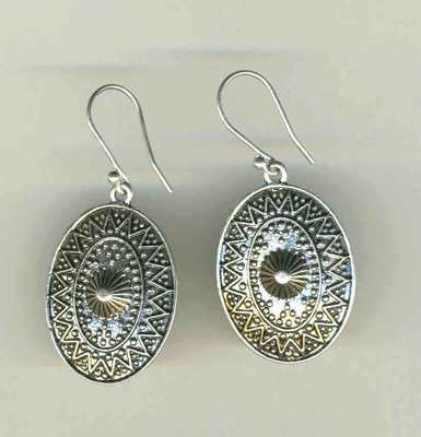 Etched silver ovals