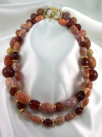 Carnelian & Fire Agate Necklace