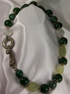 Eclectic Necklace Made Of Jade, Turquoise,& Amber
