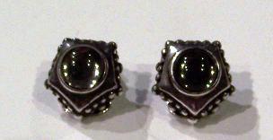 Gemstone Earrings Set In Sterling Silver